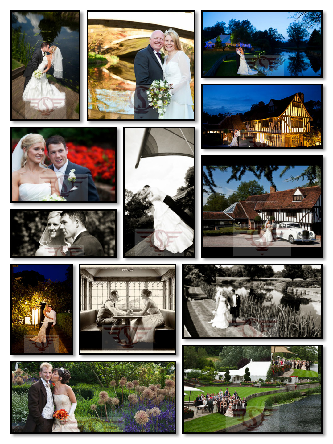 Le Talbooth wedding photographers pictures