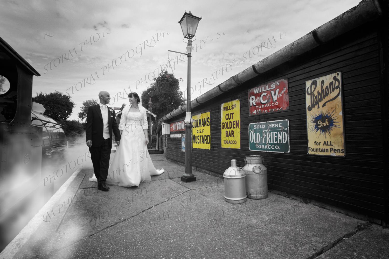 East Anglian Railway Museum: Sarah & David's Wedding Photography.